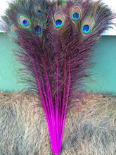 New! Rose 50 pc quality natural peacock feathers, 28-32inches / 70-80cm DIY-  wedding, living room, decorated flower vase