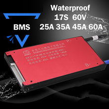 Waterproof 17S 25A 35A 45A 60A 60V Lithium Battery Protection Board Electric Bike Motorcycle Charge Li Lipo NiCoMn ion cells BMS(China)