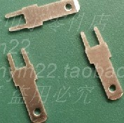 100pcs/ lot Free shipping 2.8mm 0.8mm thick legs solder terminals tinned copper inserts terminal connection terminal