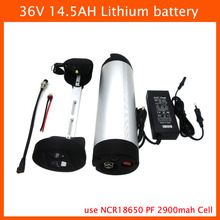 36 V lithium battery 500W 36V 14.5AH ebike battery 36V 14.5AH Electric Bicycle Battery Use Panasonic 2900mah cell 42V 2A Charger