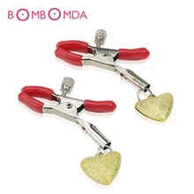 Buy 1Pair Bell Nipple Clamps Breast Clips BDSM Bondage Nipple Stimulator Stainless Steel Erotic Sex Toys Women Couple Adult Game