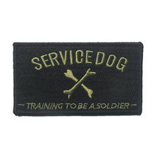 SERVICE DOG TRAINING TO BE SOLDIER Embroidery Patch Embroidered Patches Military Tactical Armband Fabric Sticker Sewing Applique(China)