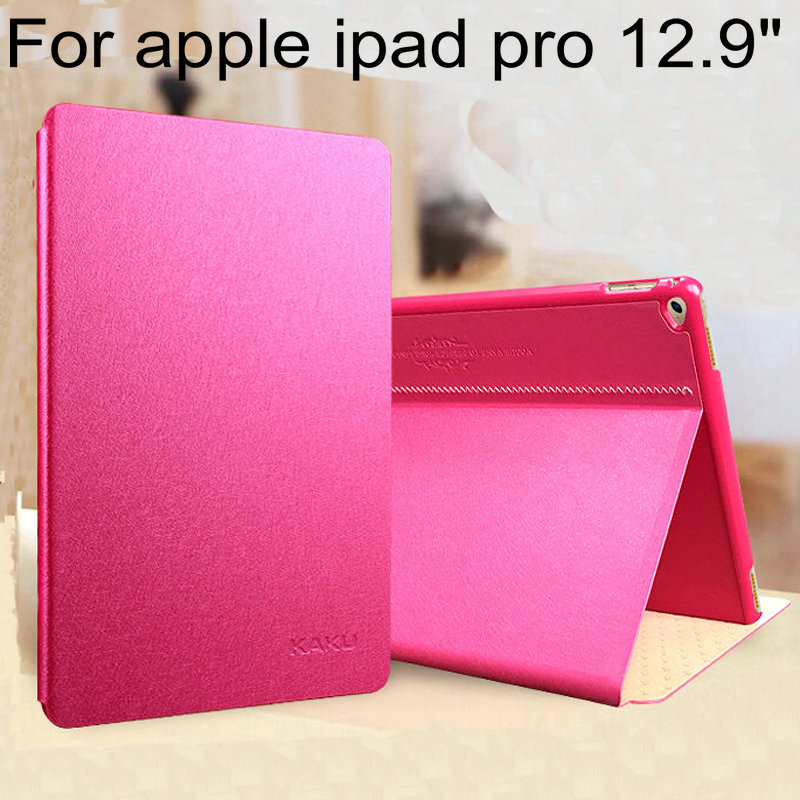 New For apple ipad pro silk leather case KAKU Leather Cover Protective Case for ipad pro Leather Case+Free screen protector<br><br>Aliexpress