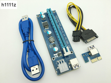 Buy Riser VER007 PCI-E PCI Express 1x 16x Riser Card USB 3.0 Data Cable SATA 6Pin IDE Molex Power BTC Bitcoin Miner Mining for $0.77 in AliExpress store