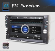 2 DIN 6.6 inch Car Stereo Bluetooth Audio HD MP4 MP5 Player Radio Touch Screen 2 USB MP3 Steering Wheel Control DVR FM