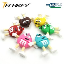 usb flash drive pen drive pendrive 8gb 16gb 32gb 64gb 128gb u disk cute MM rainbow beans bulk flash memory stick hot sale(China)