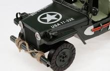 1pcs 15inch hand made metal Army car truck Jeep model for desk deck.