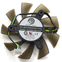 Power Logic 75MM PLA08015B12HH DC 12V 0.35A PWM 4Wire 4Pin 2 Ball Bearing GPU VGA Graphics Video Card GTX550Ti Cooling Fan