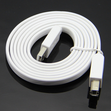 1.5m 5ft Flat Noodle USB 2.0 Printer Cable Type A Male to Type B Male Pure Copper Core Premium Quality(China)