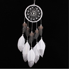 Wall Hanging Dream Catcher with Beads Girls Room Decoration Indian Style Dreamcatcher Decorative Crafts Christmas Gift 2pcs(China)
