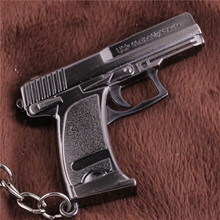 Cross Fire CF Cute USP Compact 45 Auto Hand Gun Weapon Model Metal Pendant Key Ring Keychain In Box(China)