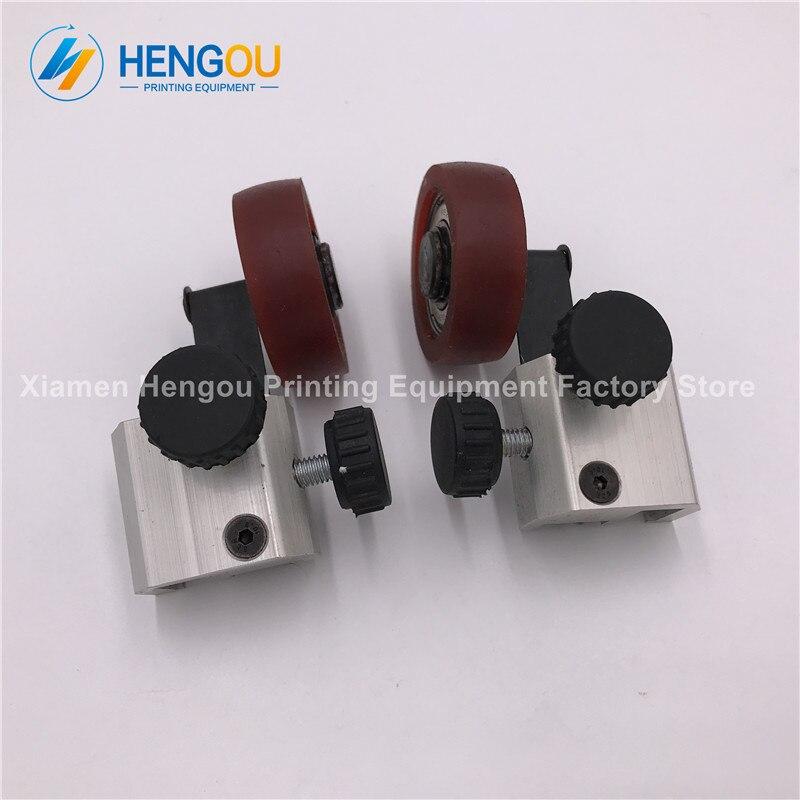 2 Pairs delivery KOMORI printing machine KOMORI rubber wheel China post free shipping<br>