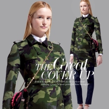 Fashion Cotton Blends Army Green Camouflage Fabric For DIY Windbreaker/Coat/Vest Heavy Cloth/Material 140CM*100CM