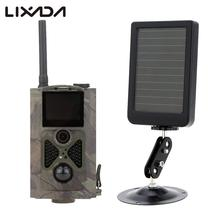 LIXADA Portable Wildlife Hunting Camera 12MP HD Digital Infrared Scouting Trail Camera 1080P Video Recorder Solar Power