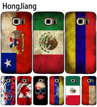 HongJiang slovak mexico canada chile colombia flag cell phone case cover for Samsung Galaxy S7 edge PLUS S8 S6 S5 S4 S3 MINI