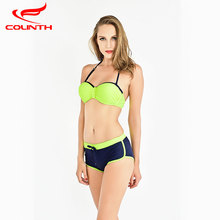 Buy 2018 New Sexy Bikinis Women Swimsuit High Waisted Bathing Suits Swim Halter Top Push Bikini Set Beach Plus Size Swimwear XXL