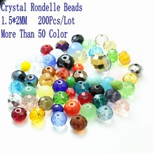 DIY Faceted Round Beads (200pcs/lot)Mixed Color Glass Crystal Beads Jewelry Accessories 2mm Glass Disco Glass Crystal Ball Beads