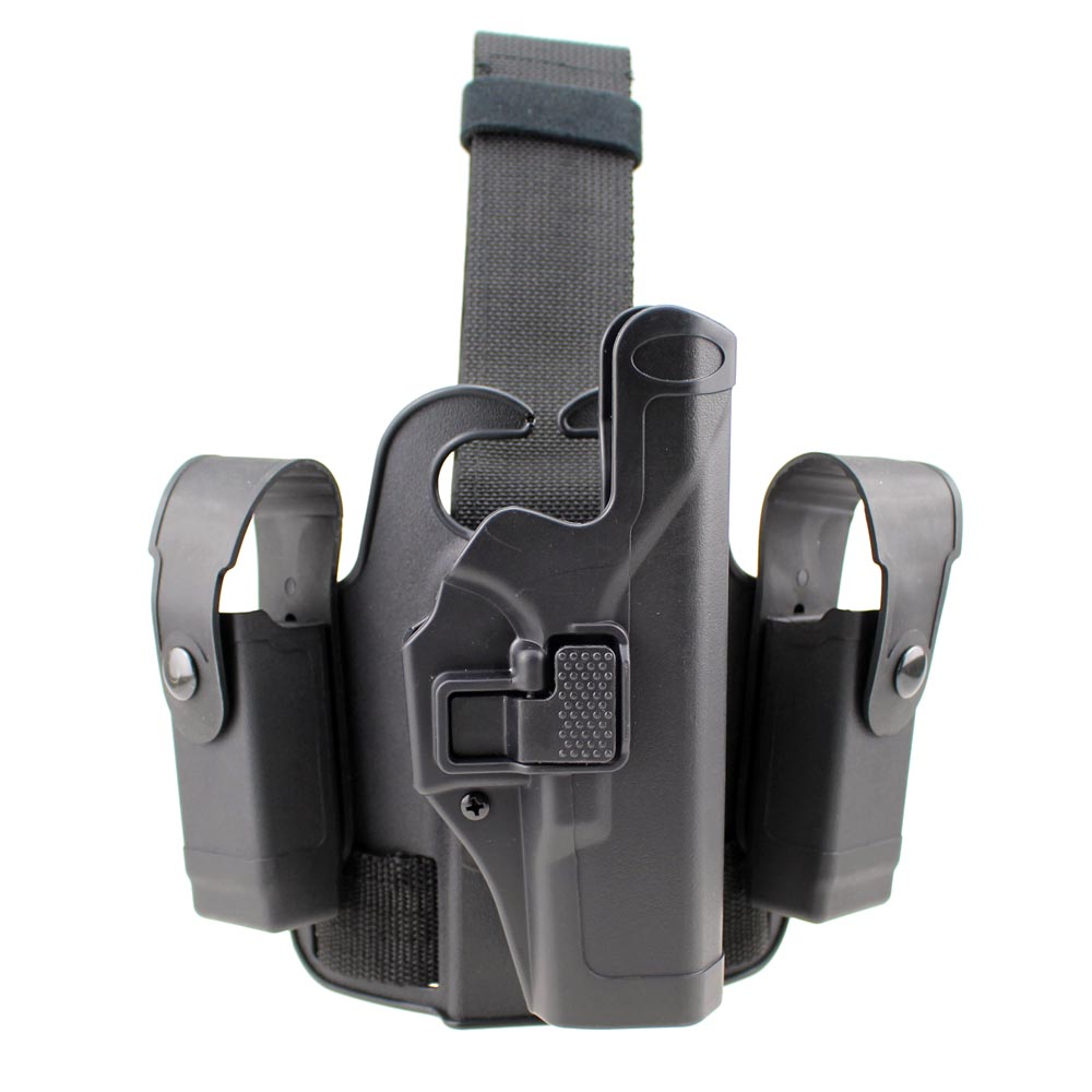 Tactical Glock Leg Holster Right Hand Paddle Drop Thigh Pistol Gun Holster Snap Button Magazine Torch Pouch f/ Glock 17 19 22 23<br><br>Aliexpress