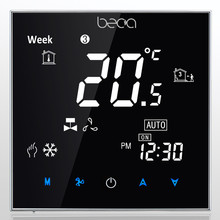 BECA 95~240VAC LCD Weekly Programmable Four Pipe Fan Coil/Fan Coil Unit/Central Air Conditioning HVAC Room Thermostat(China)