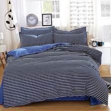 Home Textiles Spring Dark Stripe Series Bed Sheets 4pcs Bedding Sets Bed  Set Duvet Cover Bed