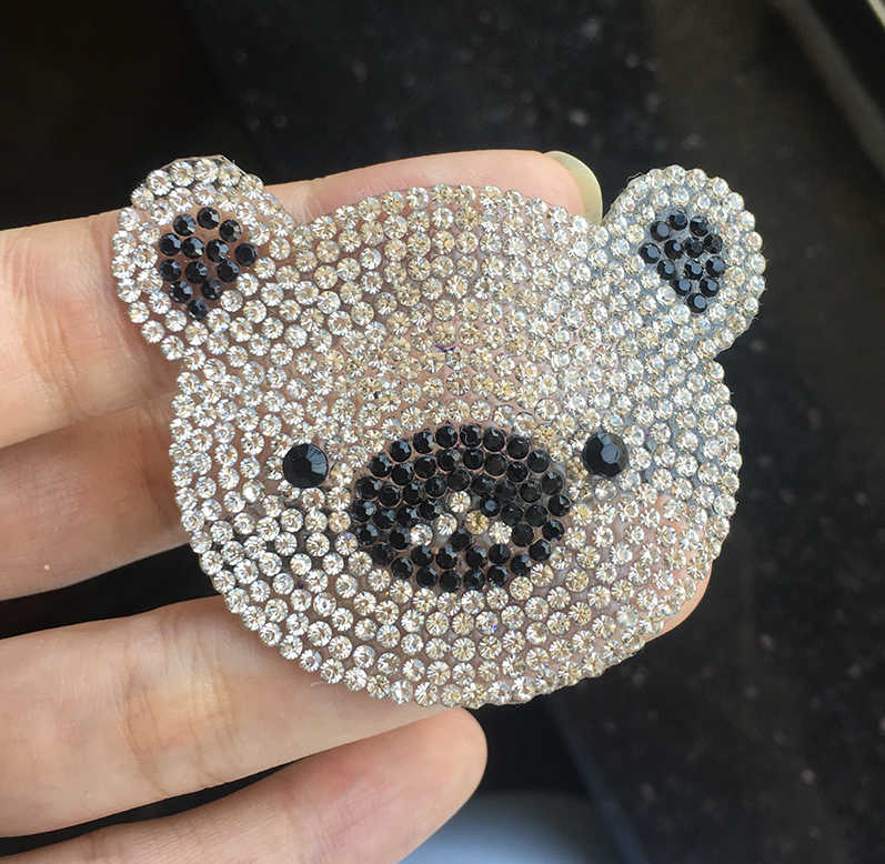 Detail Feedback Questions about Hot drilling Sparkling Rhinestone Bear  Cartoon Patch Iron on Sewing Crystal Applique For Jeans Clothing  Decorations on ... 8537500bf358