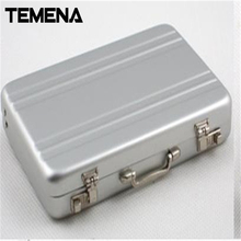 Mini Suitcase Shaped Design Aluminum Business Card Holder purse for document Box Case 5 Colors ACH211(China)