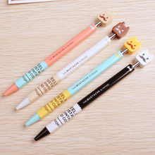 0.38mm Blue Cute Kawaii Ballpoint Pen For Writing School Supplies Office Accessories Stationary For Kids Student Gift