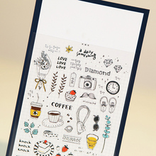 1 x Soina Decorative Stickers Diary Everyday Things Material Escolar Kawaii Memo Pad Scrapbooking Stickers