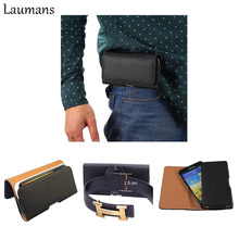 Laumans Quality leather Full phone bags Cover Waist case Belt Clip Flip wallet For iphone 4s 5s 6 6s plus 7 7plus under 5.8 inch(China)