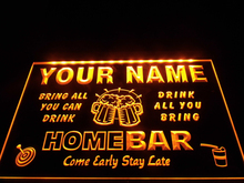 DZ057- Name Personalized Custom Family Home Brew Mug Cheers Bar Beer Neon Sign hang sign home decor crafts(China)