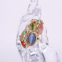 Sale Retro Large Natural Stone Party Rings Vintage Unique Opal Rings Women's Accessories Jewelry Female Retro Boho Wedding Rings