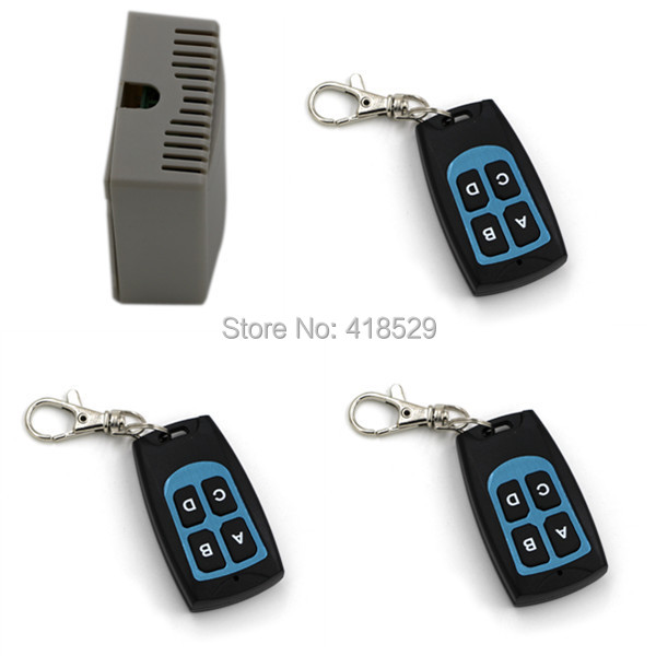 NEW 12v 4ch rf wireless remote control switch,315/433mhz 3 transmitter and 1 receiver Good Quality SKU: 5026<br><br>Aliexpress