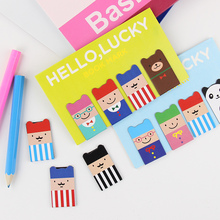 8PCS/2 Sets Novel Korean Stationery Magnetic Bookmark 3 Styles Cartoon Animal Book marks line marker Creative Gift for Kids