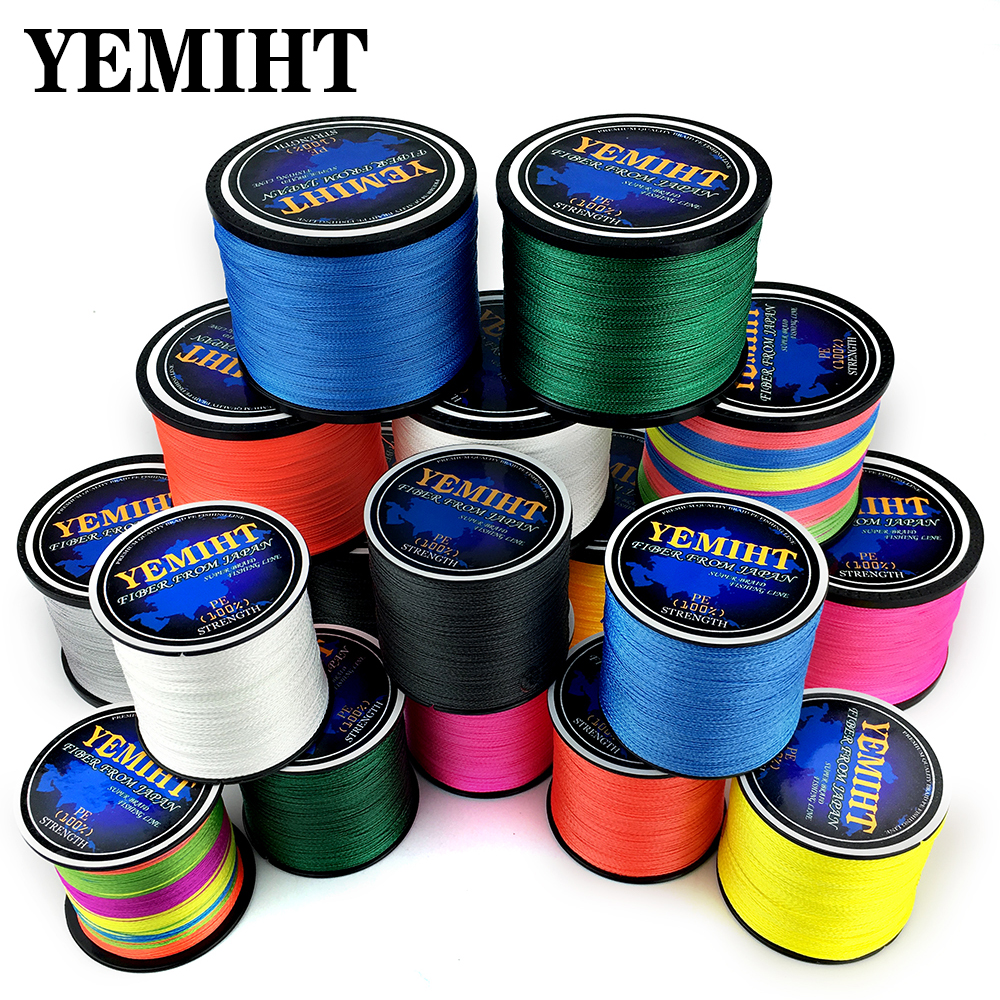 300M 500M 1000M Strands 10-120LB PE Braided Fishing Wire Multifilament Super Strong Fishing Line Japan Multicolo title=