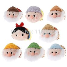 Tsum Tsum Mini Plush Princess Snow White and the Seven Dwarfs Collection Kawaii Cute Smartphone Screen Cleaner Kids Toys Gifts(China)