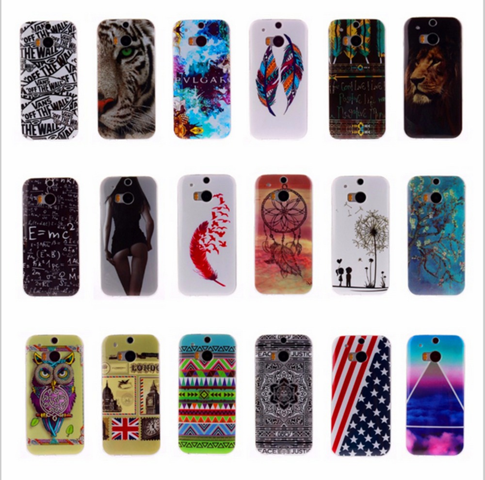 ONE mini M4 Cartoon Painting Painted Glossy Soft TPU IDM Silicon Back Cover Protective Mobile phone Case for HTC ONE mini M4(China (Mainland))