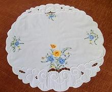 HOT Satin embroidery place table Mat cloth Placemat Cake Coaster pot cup Holder doilies mug pad dining office Kitchen accessory