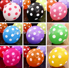 XXPWJ 50pcs / lot 12inch latex balloons dot balloons wholesale children's birthday party decoration(China)