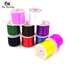 15m 1Roll Colorful Stretchy Elastic Cord Crystal String For Jewelry Making Beading Wire Fishing Thread Rope AGT-1(China)