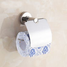 X16303 - Luxury Chrome Color 304 Stainless Steel Bathroom Accessories Including Towel Ring Robe Hook Toilet Paper Holder(China)