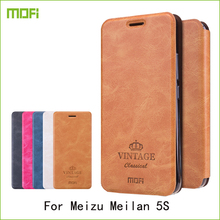 For Meizu Meilan 5S Meizu M5s Case Mofi Hight Quality Flip PU Leather Stand Case For Meizu Meilan 5S Book Style Cell Phone Cover(China)