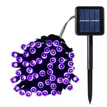 Outdoor Solar Panel Powered Light 12M 100 LED Garden Waterproof Home Christmas Wedding Path Party String Fairy Decoration Lamp(China)
