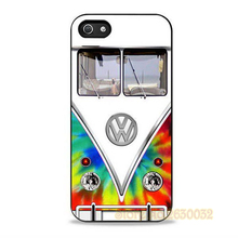 Trendy Tie Dye VW Bus Design cell phone protection case cover for iphone 4 4s 5 5s se 5c 6 6s 6 plus 6s plus 7 7 plus #TT764