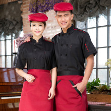 New Design Summer Short-sleeved Chef Service Hotel Working Wear Restaurant Work Clothes Tooling Uniform Cook Tops