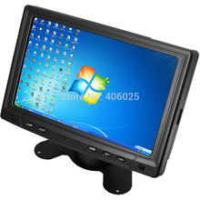 "Mini CCTV Monitor CWH-YC702 with 7"" TFT LED LCD Screen Display for PC Computer Car and Home CCTV Camera System with VGA AV BNC(China)"