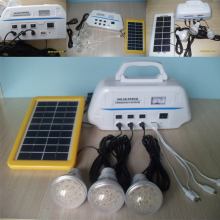 New energy Solar Power System +3W Solar panels + 3pcs LED bulb indoor &outdoor lighting solar led emergency lamp light
