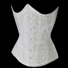 White Jacquard Lace Up Waist Trainer Tummy Control Women Waist Bodycon Corsets Cincher Slimming Body Shaper Lingerie Girdles