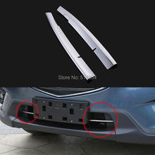 Free shipping For 2014 2015 MAZDA CX-5 cx5 Car grill trim grille lower decorative strip for cx-5 accessories stainless steel