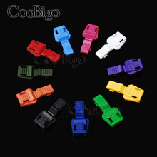 Mixed 50pcs Colorful Zipper Pull Cord Ends for Paracord & Cord Tether Tip Cord Lock Plastic Camping Outdoor Backpack Bag Parts