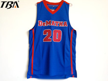 2017 Mens New Markelle Fultz Jersey Cheap Throwback Basketball Jerseys #20 DeMatha Catholic HS Stags Retro Shirts For Men(China)